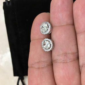 5d3450e174d04 3.44 CTTW Halo Stud Earrings w Swarovski Elements